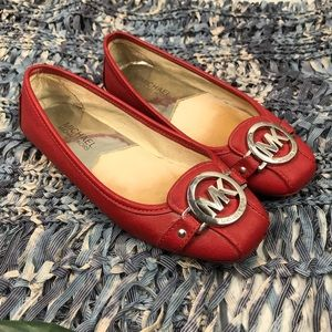 Michael Kors Red Loafers Size 5